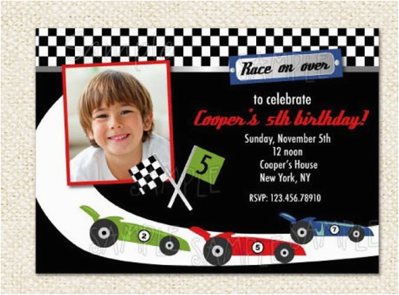 race car birthday invitations by lollipopprints on etsy