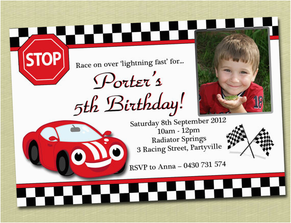 race car birthday invitations ideas bagvania free