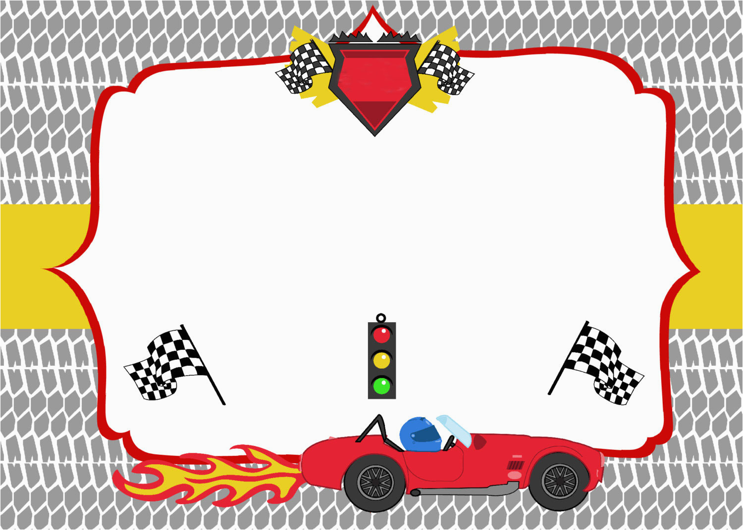 free printable race car birthday party invitations