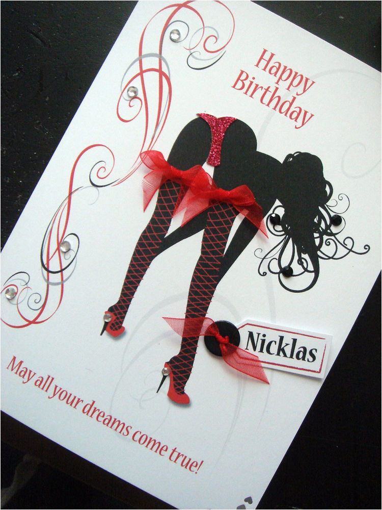 personalised handmade sexy lady 39 thong 39 birthday card ebay