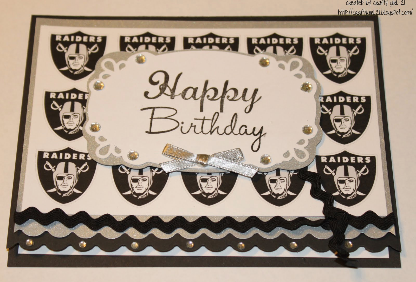 raiders birthday card