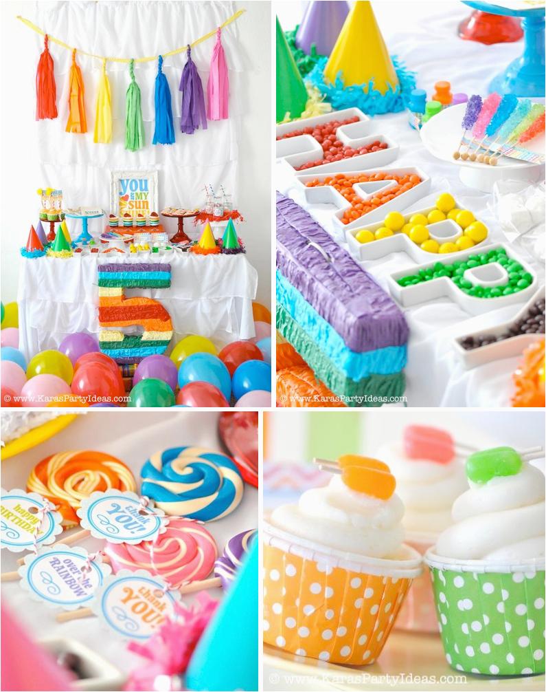 rainbow themed birthday party karas party ideas shop