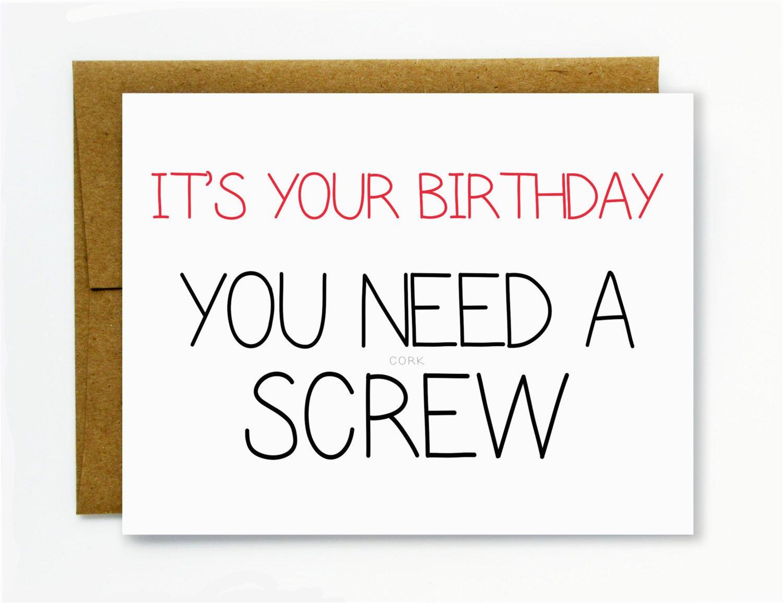 Raunchy Birthday Cards Funny Birthday Card Happy Birthday Dirty Birthday Card