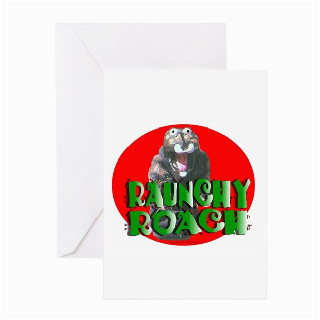 Raunchy Birthday Cards Raunchy Roach Greeting Cards Pk Of 10 by Freakentstore