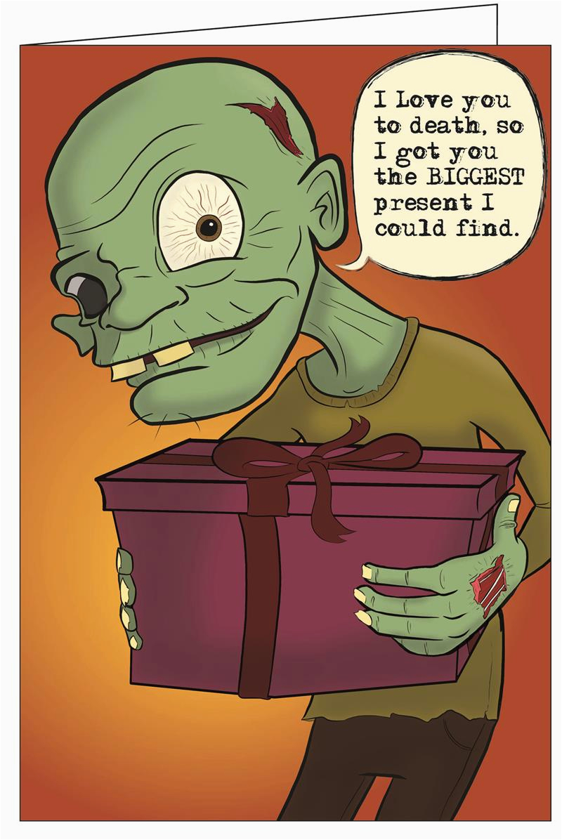 greeting cards zombie i love you really big greeting card