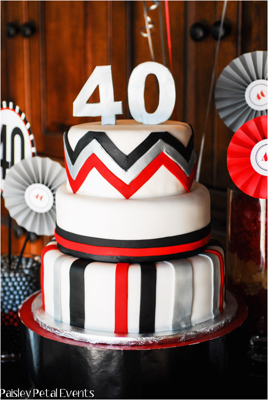 Red And Silver Birthday Decorations Black 40th Party For Him