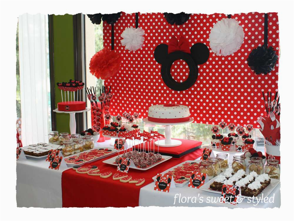 minnie mouse party supplies red and black