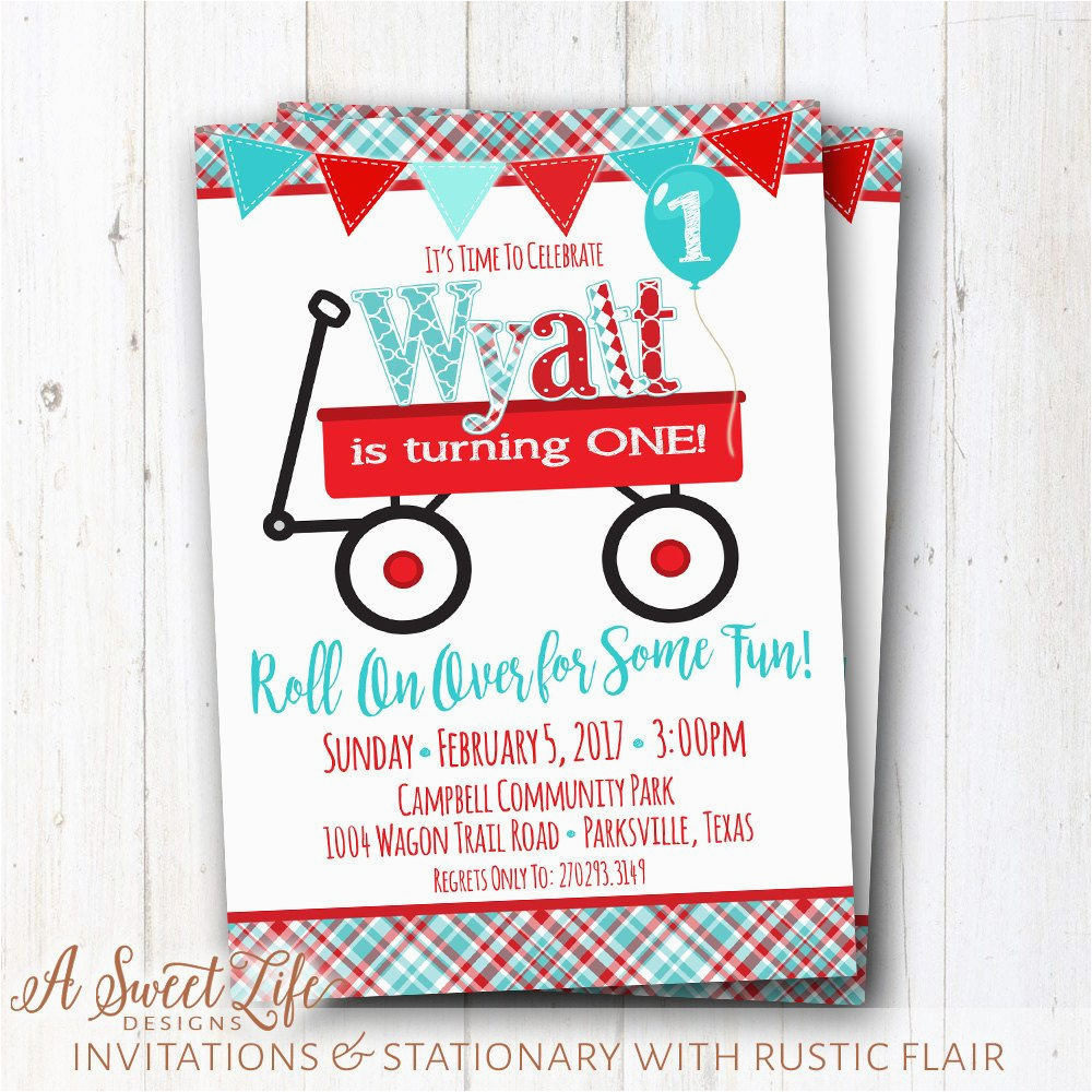 little red wagon birthday party
