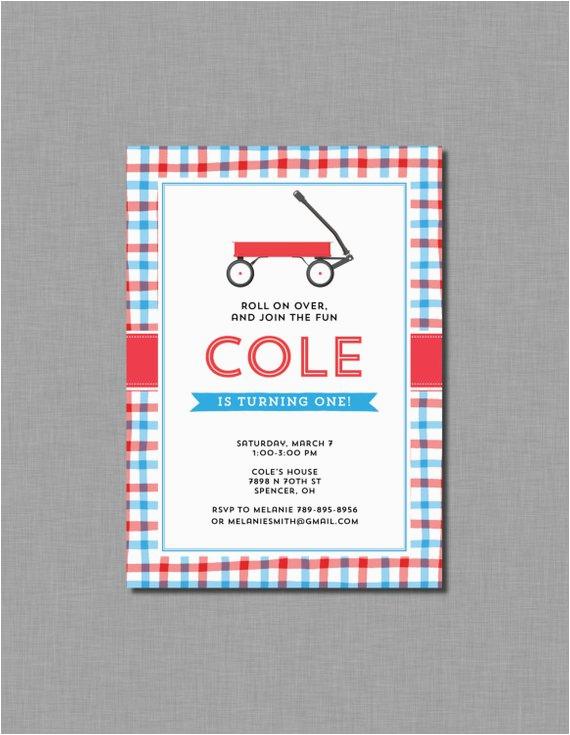 red wagon birthday invitations little