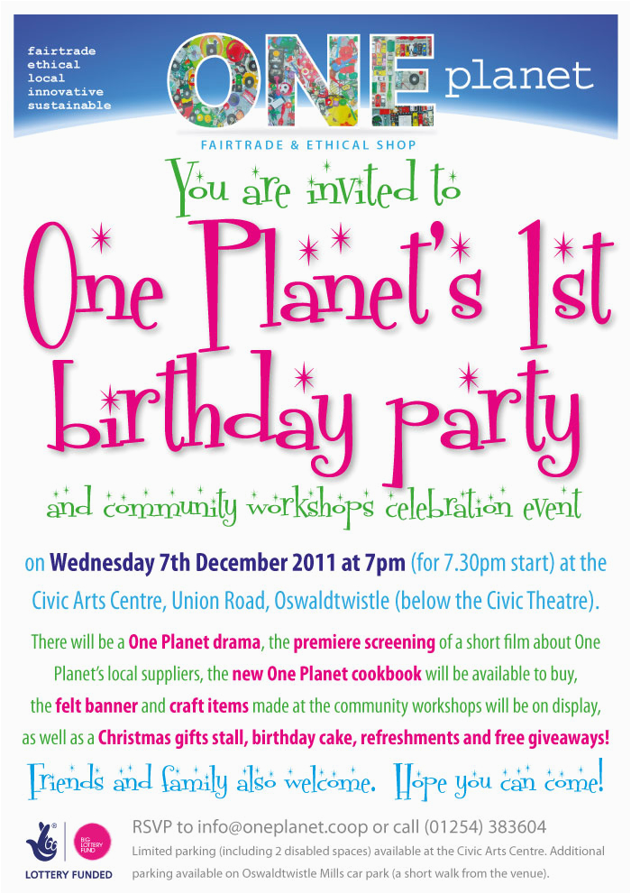 first birthday party reminder oneplanetcommunityprojects