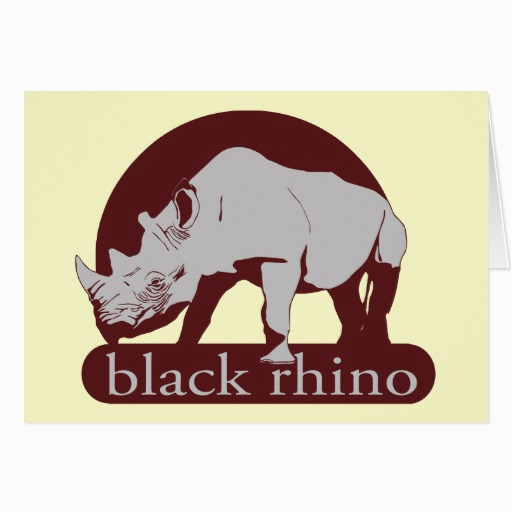 black rhino greeting card zazzle