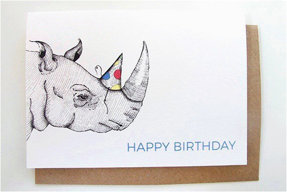 happy birthday rhino card funny birthday card kid 39 s