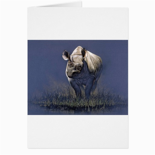 rhino greeting card zazzle