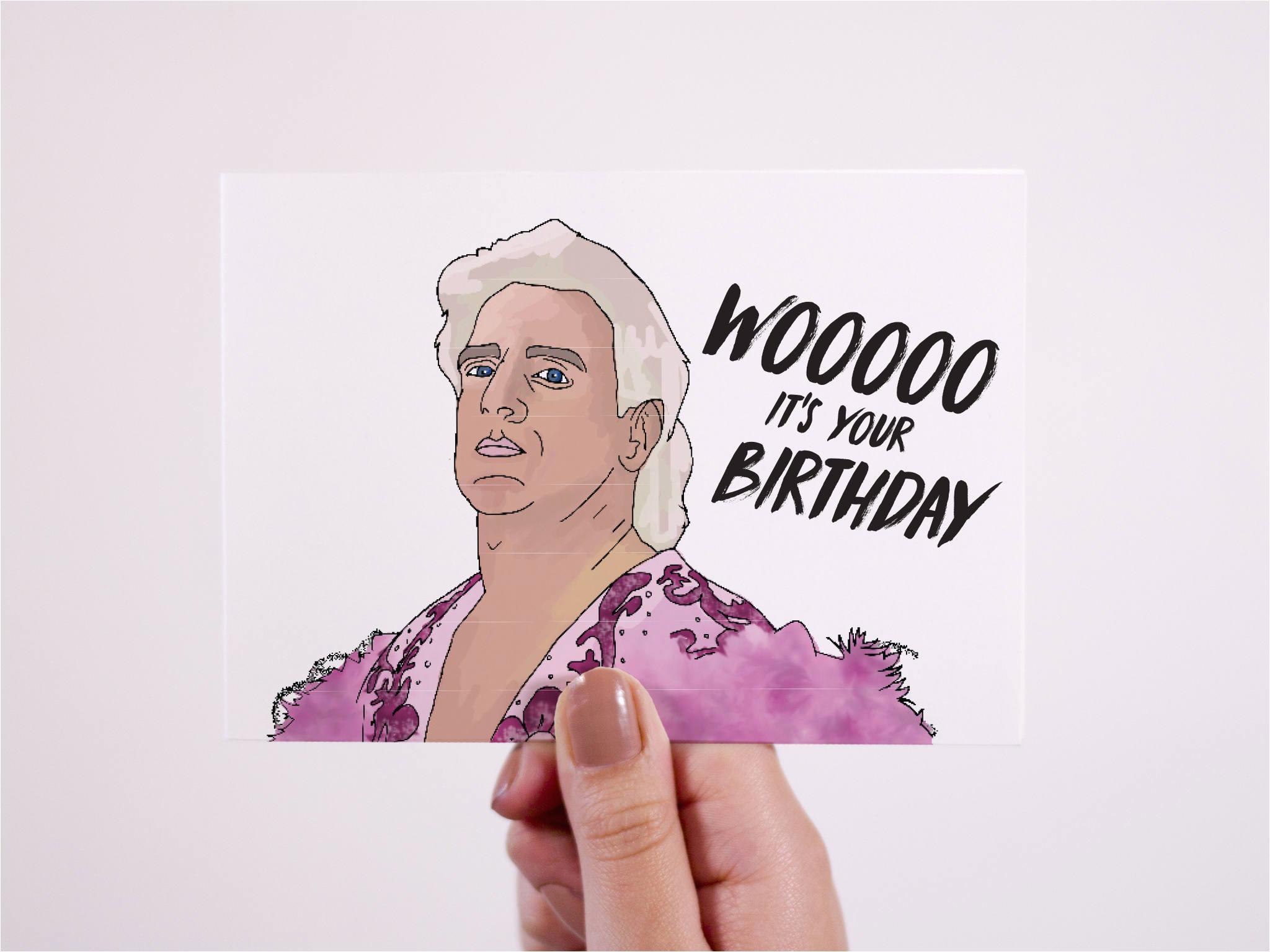 ric flair card birthday card woooooo