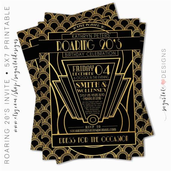 roaring 20s invitation great gatsby