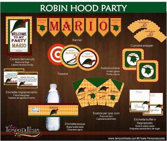 robin hood printable birthday party robin hoods