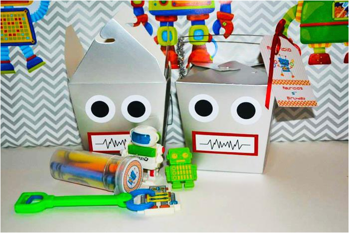 robot themed 5th birthday party