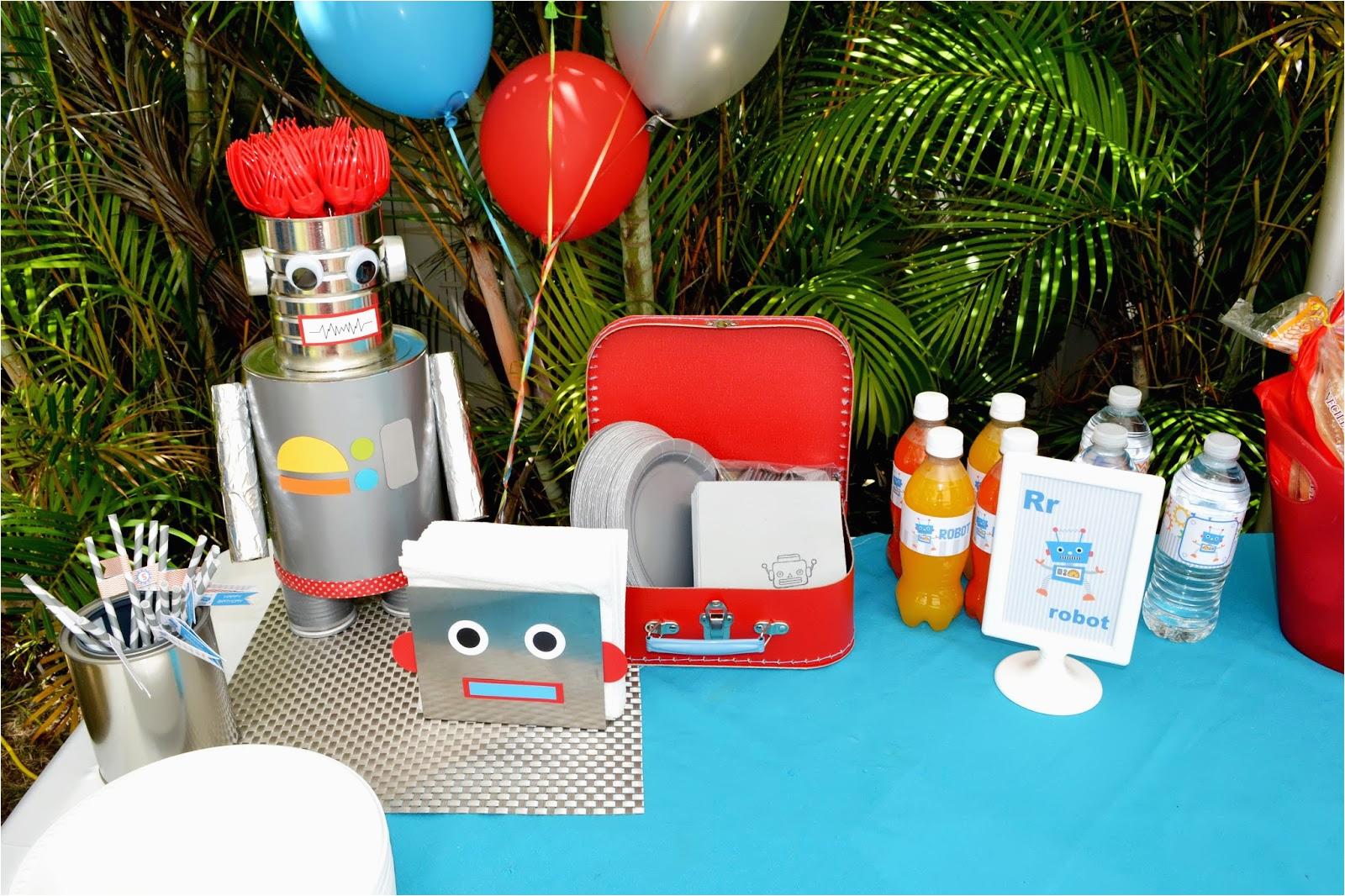 birthdays robot party