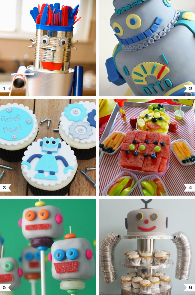 Robot Birthday Decorations Robot Party Food Ideas Chickabug
