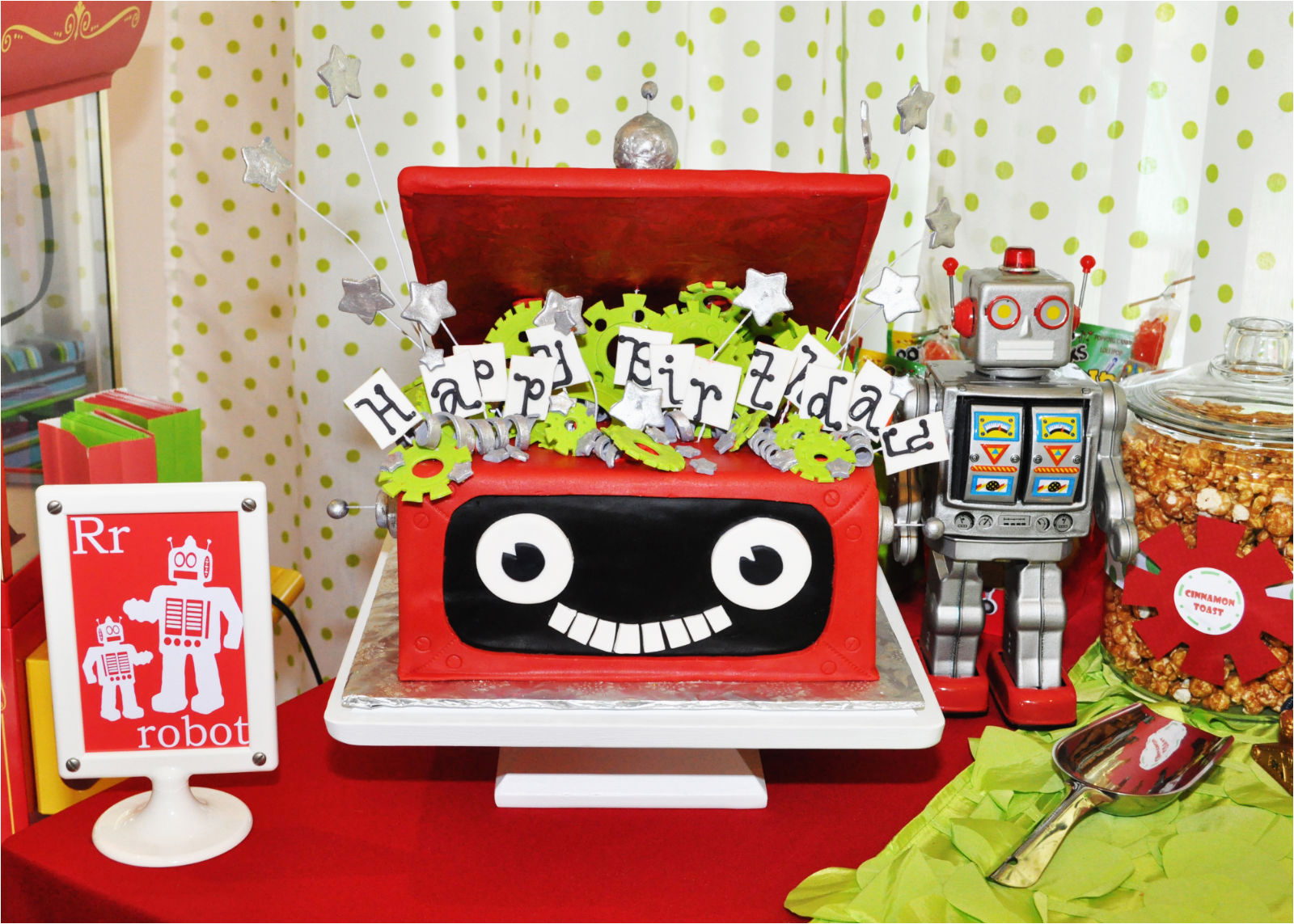 robot rockets birthday party