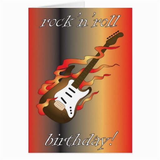 rock n roll birthday greeting card 137635977460642108