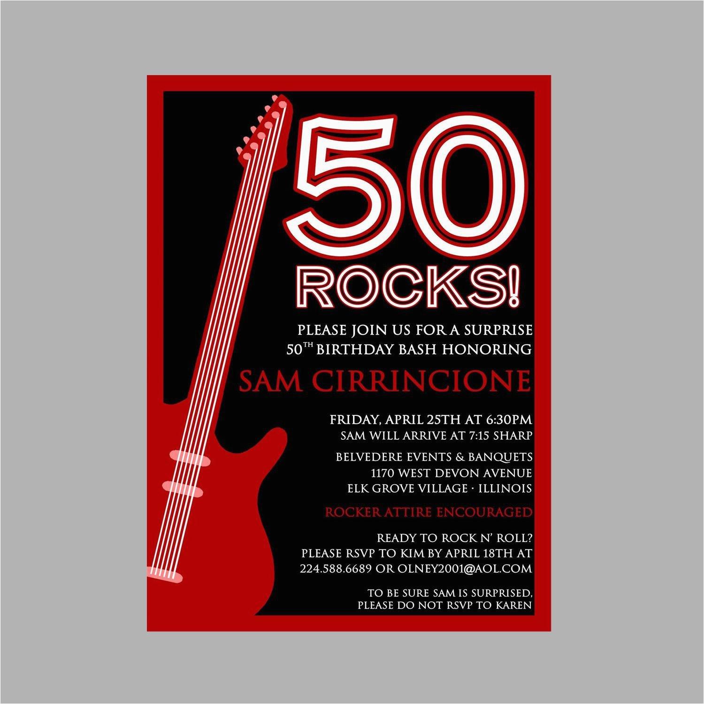 50th birthday rock n roll party