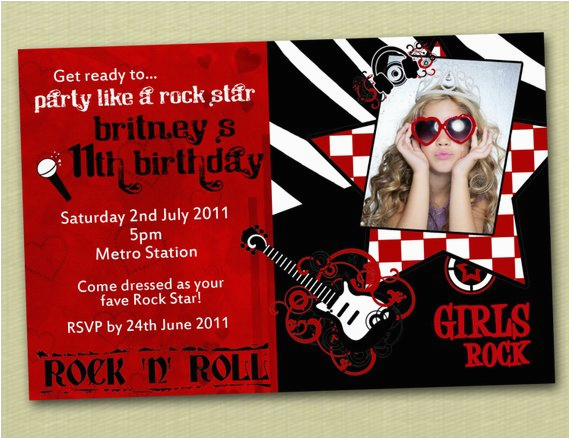 rock and roll birthday invitations you