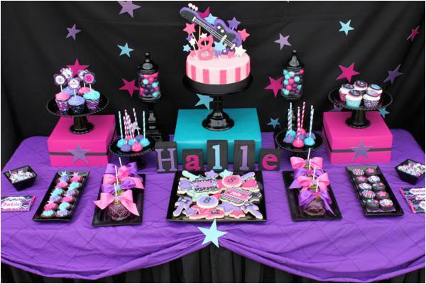 girly rock star birthday party