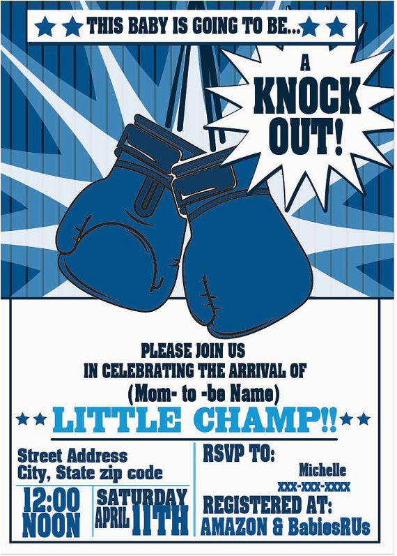 boxing party invitations for any event boxing birthday