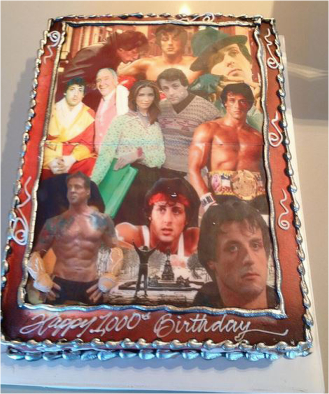 rocky balboa has the best birthday cake for the win