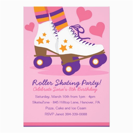 image about Free Printable Roller Skate Party Invitations referred to as Roller Skating Birthday Invites Templates Absolutely free Printable