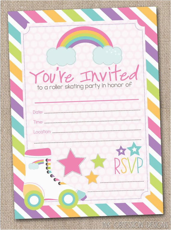 image about Roller Skate Template Printable titled Roller Skating Birthday Occasion Invites Template Cost-free