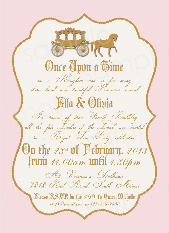 Royal Birthday Party Invitation Wording Royal Princess Birthday Party Invitation Diy by Modpoddesigns