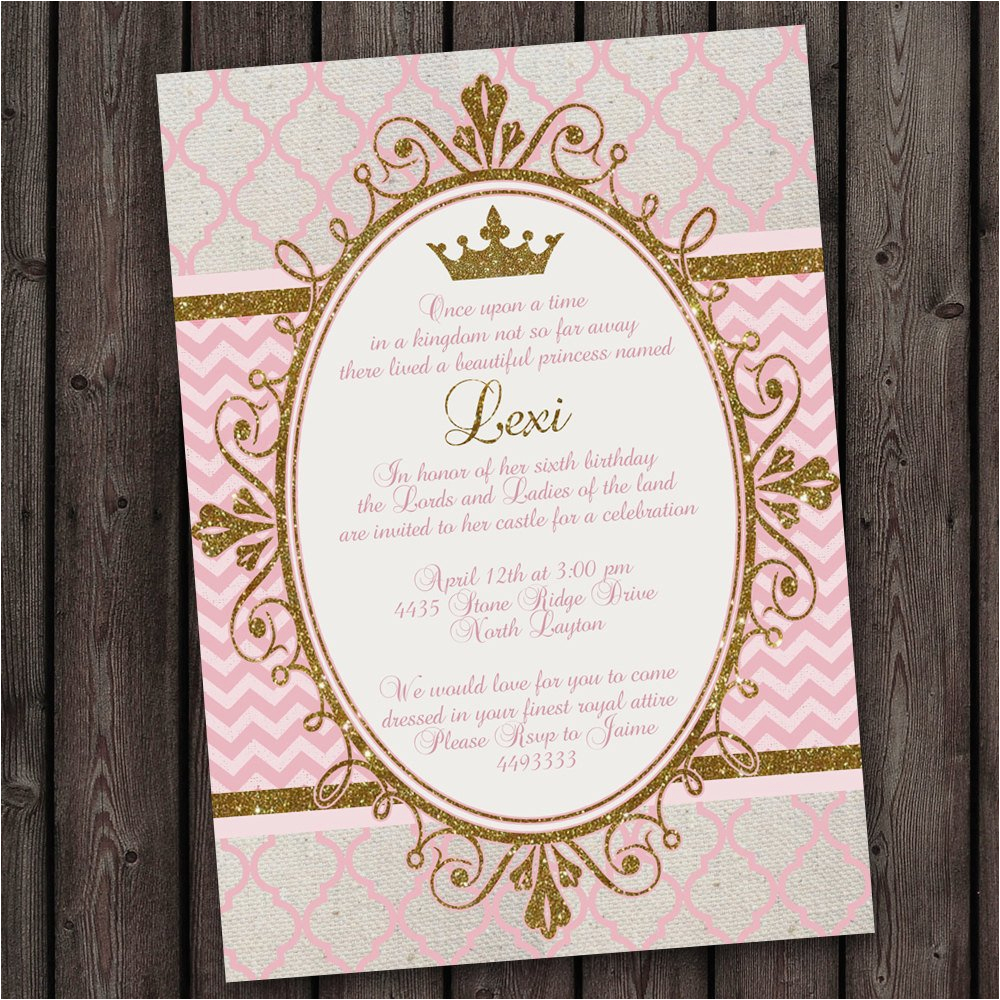 Royal Birthday Party Invitation Wording Royal Princess Party Invitations tons to Choose From Free