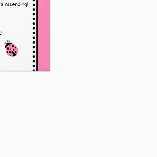 cute pink ladybugs birthday party rsvp card 161093599294699440