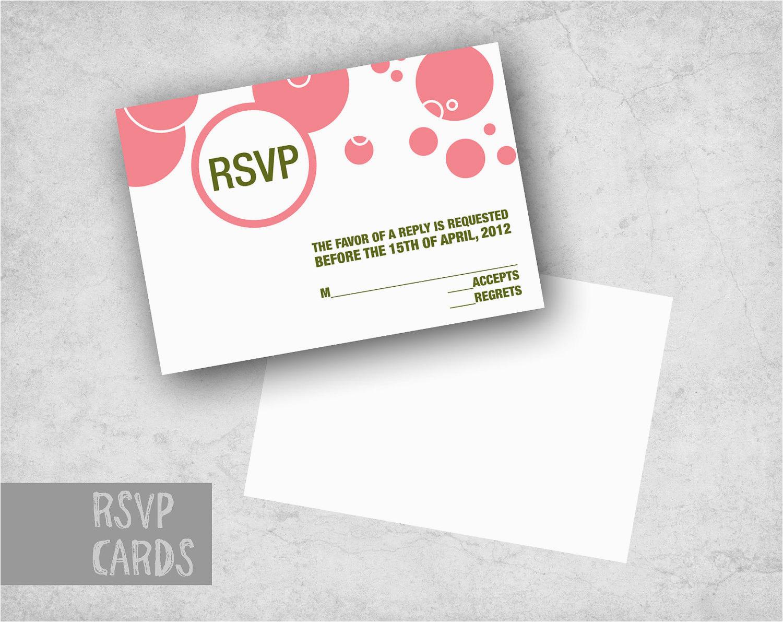 20 modern party rsvp cards birthday
