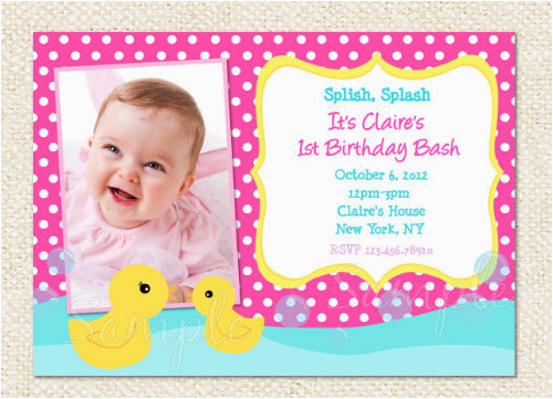 Rubber Ducky 1st Birthday Invitations Free Printable My Little Pony