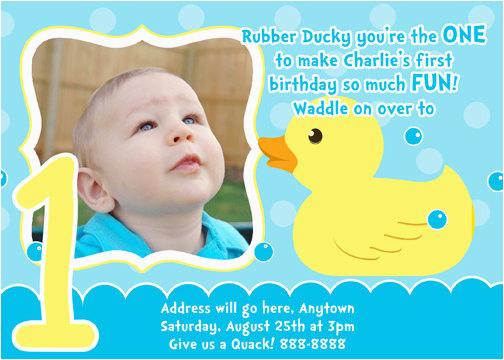 Rubber Ducky 1st Birthday Invitations Rubber Ducky Birthday Invitations Ideas Bagvania Free