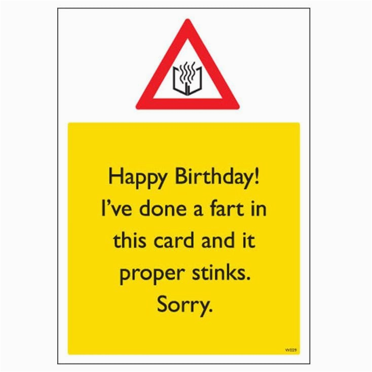 rude birthday card proper stinks find me a gift