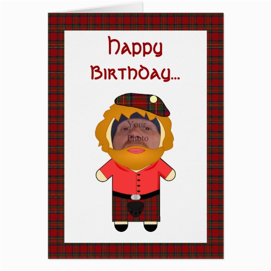 Rude Birthday Cards For Her Joke Scotsman Greetings Card Zazzle Co Uk