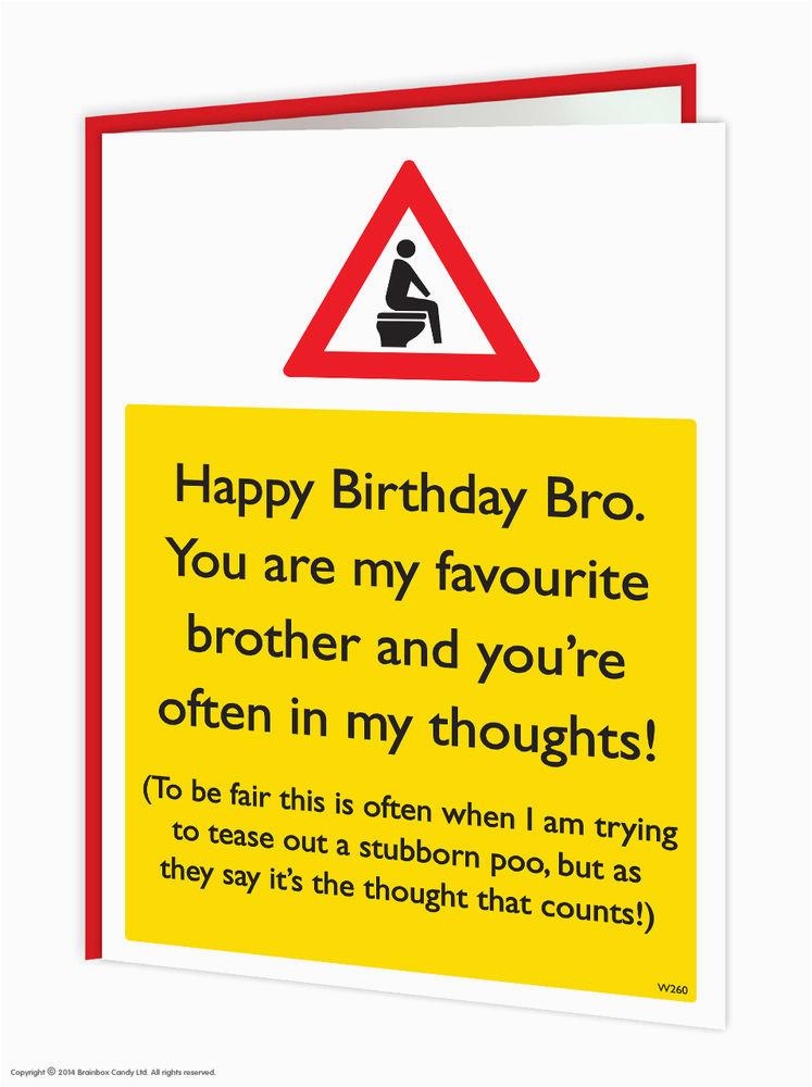 Rude Brother Birthday Cards Brainbox Candy Bro Greeting Funny