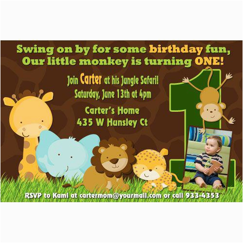 safari birthday invitations