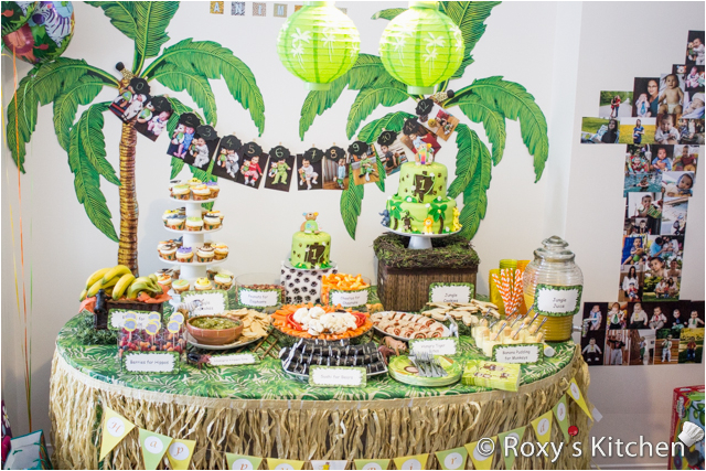 safari jungle themed first birthday party part ii appetizers finger foods snack ideas