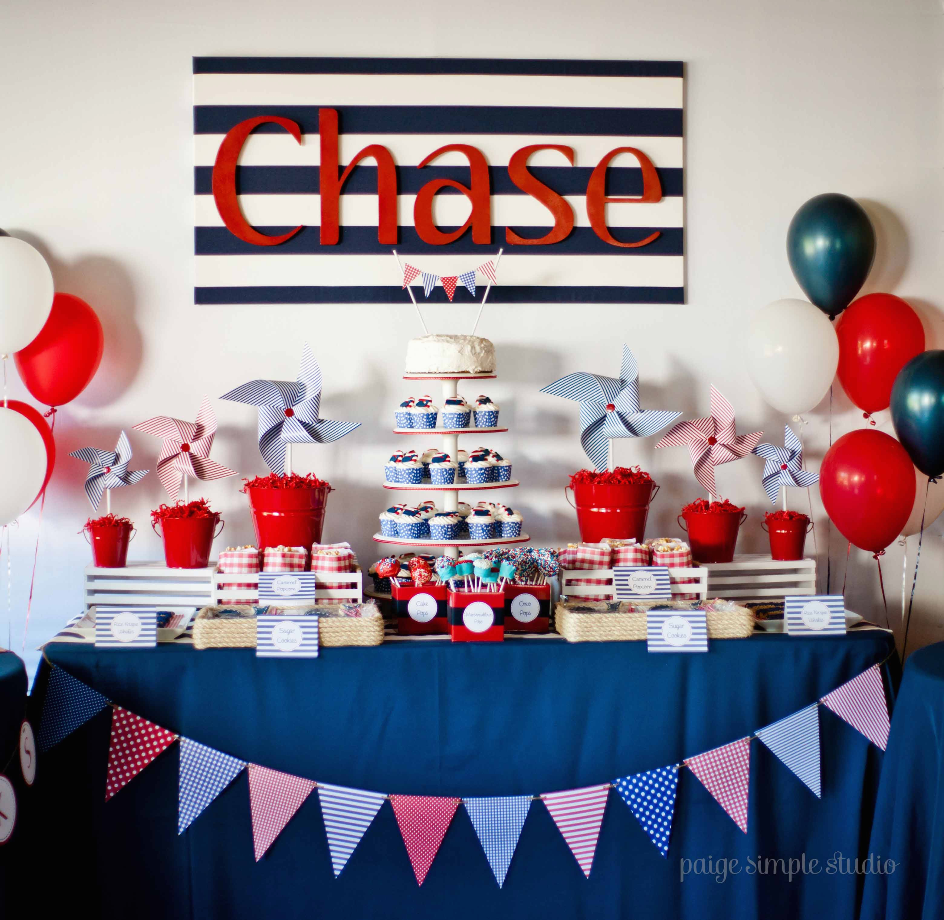 Sailor Birthday Decoration Guest Party Boy 39 S Nautical First Birthday Party
