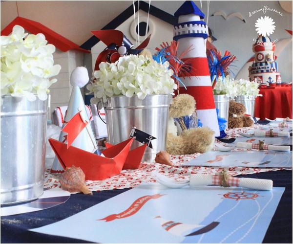 sailor bear 1st birthday party