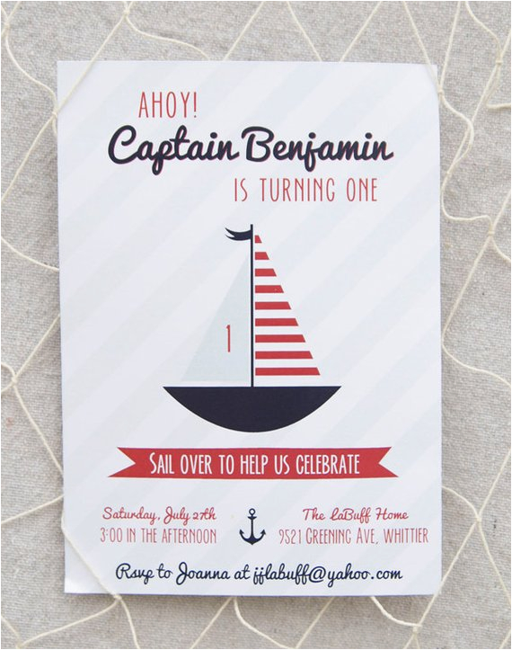 nautical birthday invitation printable