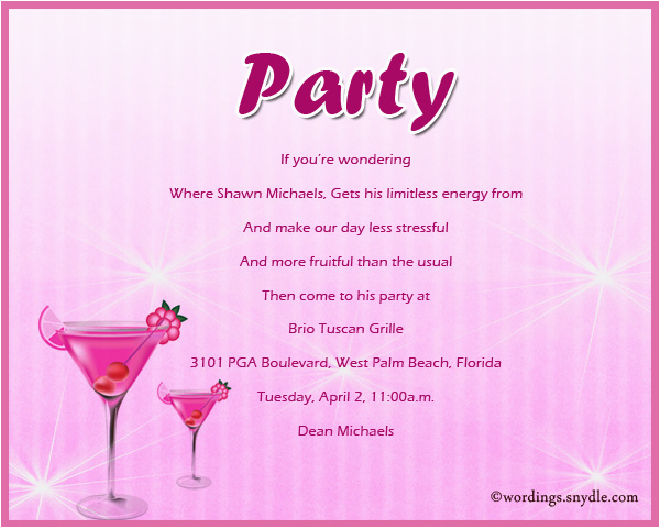 adult party invitation