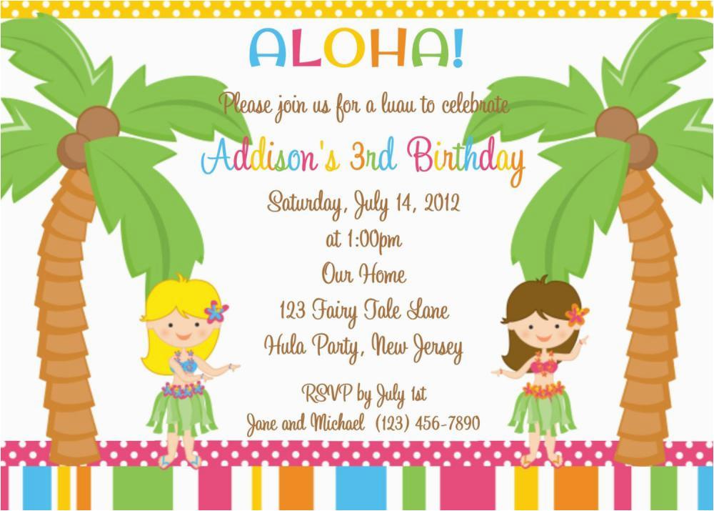 Sample Birthday Invitation Wording For Kids 18 Invitations Free Templates