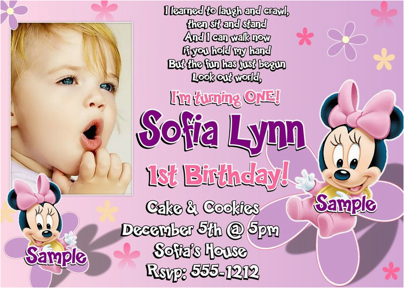 Sample Of 1st Birthday Invitation Card Wording And Party Ideas Bagvania