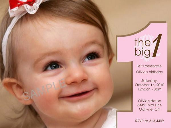 Sample Of Birthday Invitation Cards 1 Year Old First Birthday